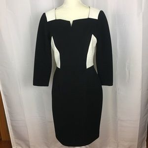 Antonio Melani colorblock textured dress size 6